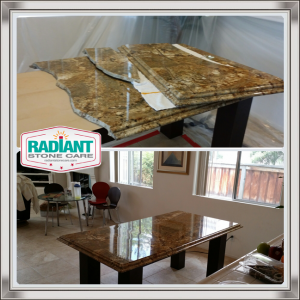 Marble Table Repair-Bef-n-Aft