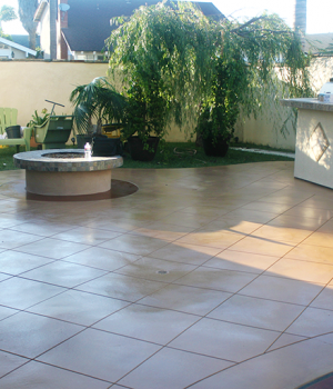 Concrete Patio Stain-FINISHED
